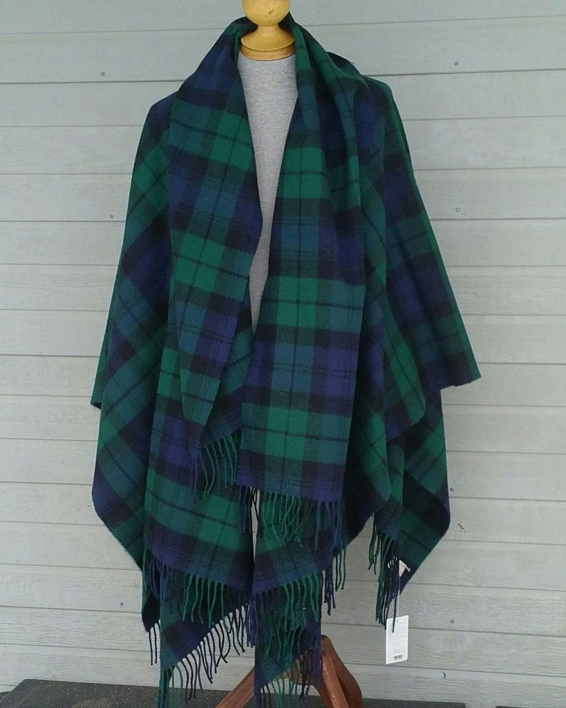 Black Watch Blanket Cape Forever Tartan