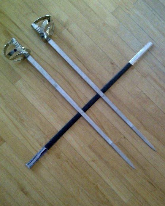 Chrome Right and Left Sword Blades Forever Tartan