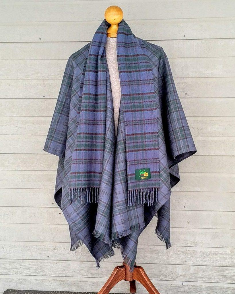 Wicklow Irish Tartan Blanket Cape Forever Tartan
